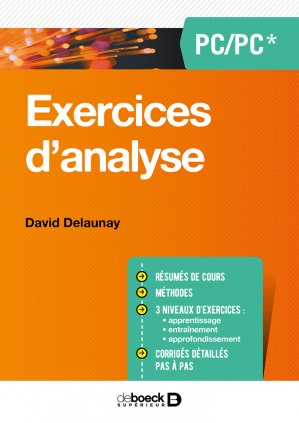 Exercices d'analyse PC/PSI-de boeck superieur-9782807315402