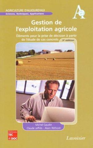 Gestion de l'exploitation agricole - lavoisier / tec et doc - 9782743013943