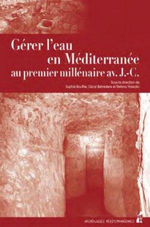 Gérer l'eau en Méditerranée au premier millénaire avant J-C-publications de l'universite de provence-9791032002094