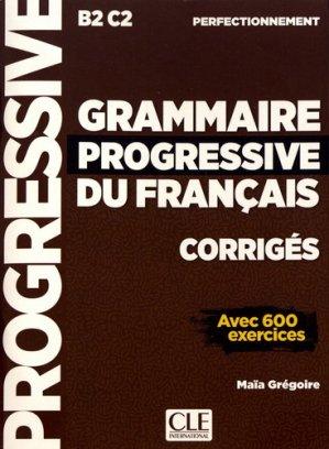 Grammaire Progressive du Français - Perfectionnement  Corrigés-cle international-9782090384406