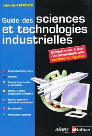 Guide des sciences et technologies industrielles - nathan / afnor - 9782091615905