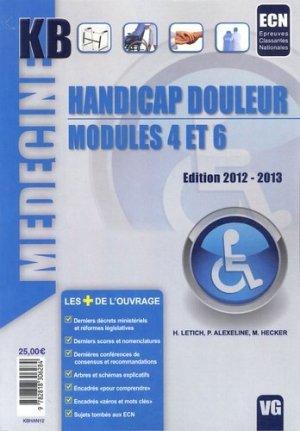 Handicap Douleur Modules 4 et 6 - vernazobres grego - 9782818306284
