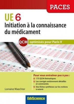 Initiation à la connaissance du médicament UE 6 - Optimisé Paris V-édiscience-9782100727230