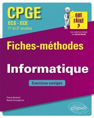 Informatique Fiches-méthodes et exercices corrigés - ellipses - 9782340026896