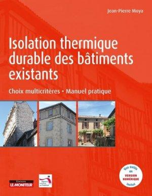 Isolation thermique durable des bâtiments existants - le moniteur - 9782281142945