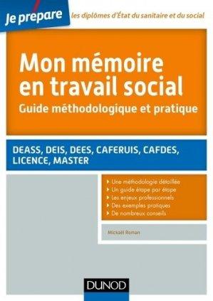 Je prépare Mon mémoire en travail social - dunod - 9782100745548