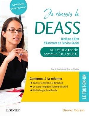 Je réussis le DEASS. Diplôme d'Etat d'assistant de service social - elsevier / masson - 9782294765896