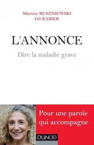 L'Annonce - Dire la maladie grave - dunod - 9782100572847