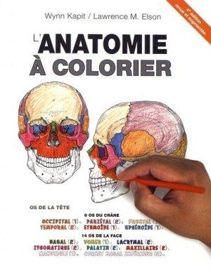 L'anatomie à colorier - maloine - 9782224035457