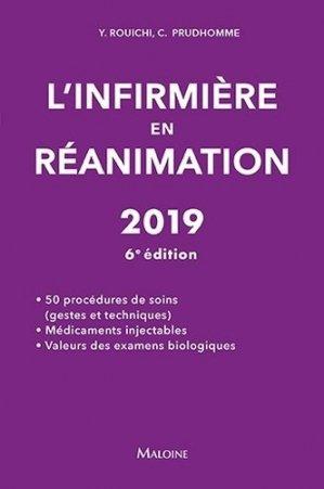 L'infirmière en réanimation 2019 - maloine - 9782224035679