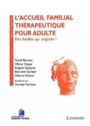 L'accueil familial thérapeutique pour adulte - lavoisier / sainte-anne - 9782257204943