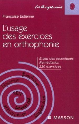 L'usage des exercies en orthophonie-elsevier / masson-9782294706158