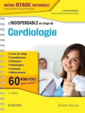 L'indispensable en stage de Cardiologie-elsevier / masson-9782294758911