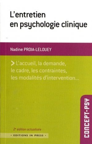 L'entretien en psychologie clinique - in press - 9782848352404