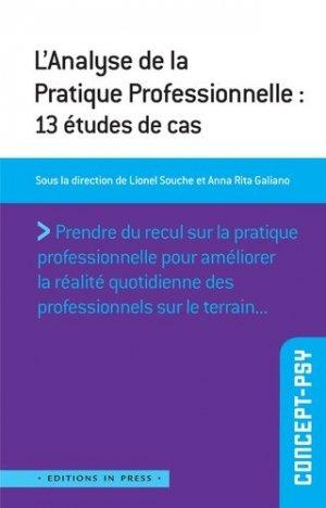L'analyse de la pratique professionnelle : 13 études de cas - in press - 9782848353494