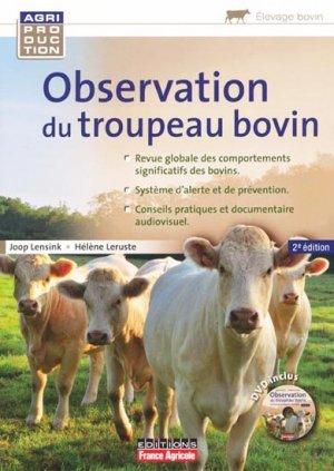 L'observation du troupeau bovin - france agricole - 9782855572383