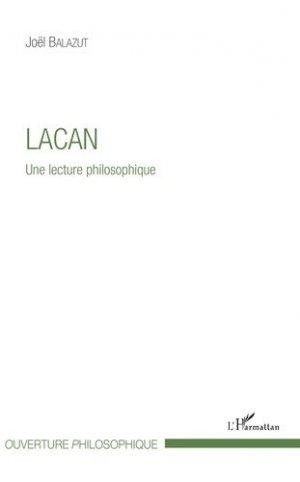 Lacan - Une lecture philosophique-l'harmattan-9782343151618