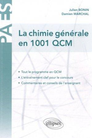 La chimie générale en 1001 QCM - ellipses - 9782729856847
