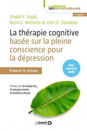 La thérapie cognitive basée sur la pleine conscience pour la dépression-de boeck-9782807313422