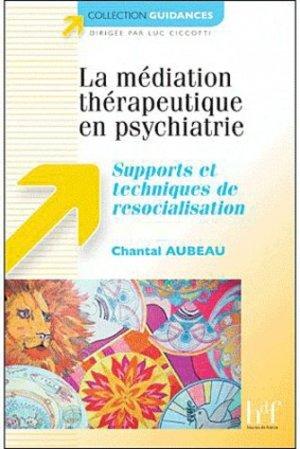 La médiation thérapeutique en psychiatrie - heures de france - 9782853852913