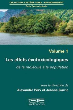 Les effets écotoxicologiques-iste-9781784052751