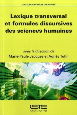 Lexique transversal et formules discursives des sciences humaines-iste-9781784054854