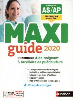 Le Maxi guide AS/AP 2020 - Nathan - 9782091654836