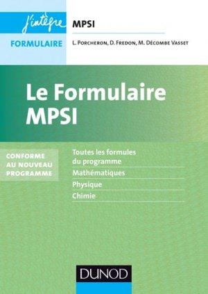 Le formulaire MPSI-dunod-9782100600670