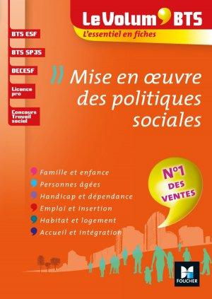 Le Volum' BTS - Mise en oeuvre des politiques sociales-foucher-9782216149247