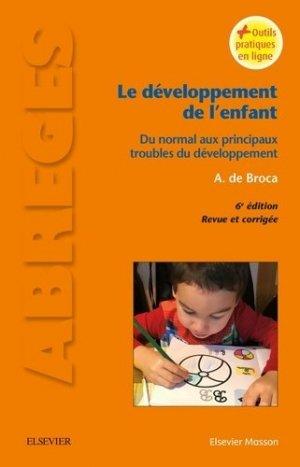 Le développement de l'enfant-elsevier / masson-9782294749841