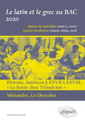 Le latin et le grec au BAC 2020-ellipses-9782340034259