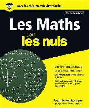 Les Maths pour les Nuls grand format-first -9782412028339