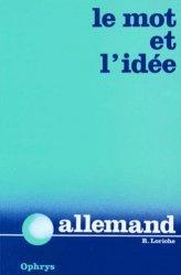 Le Mot et l'Idée - Allemand-ophrys-9782708000025