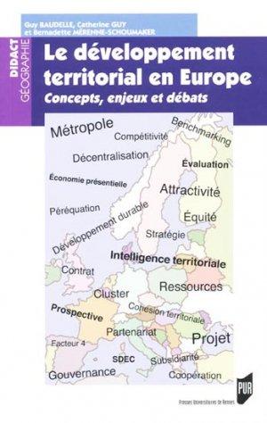Le développement territorial en Europe-presses universitaires de rennes-9782753514232