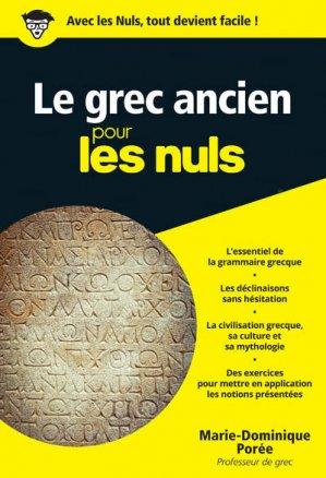 Le Grec Ancien pour les Nuls - first - 9782754088367