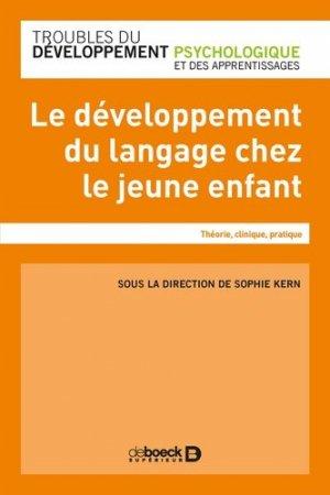 Le développement du langage oral - de boeck - 9782807320543