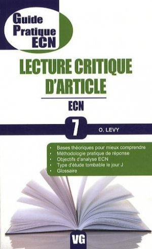 Lecture critique d'article - vernazobres grego - 9782818302071