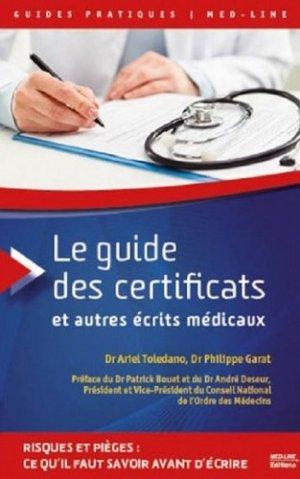 Le guide des certificats et autres écrits médicaux-med-line-9782846781824