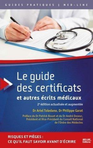 Le guide des certificats et autres écrits médicaux-med-line-9782846782432