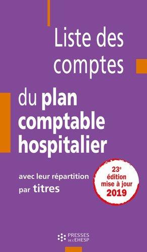 Liste des comptes du plan comptable hospitalier avec leur répartition par titres-EHESP-9782810907656