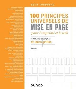 100 principes universels de mise en page pour l'imprimé et le Web - dunod - 9782100797424