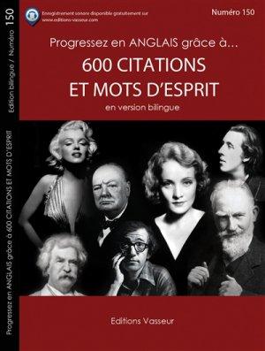600 citations et mots d'esprit en version bilingue - vasseur - 9782368300916