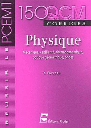 150 QCM corrigés Physique-pradel-9782913996281