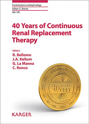 40 Years of Continuous Renal Replacement Therapy-karger -9783318063066