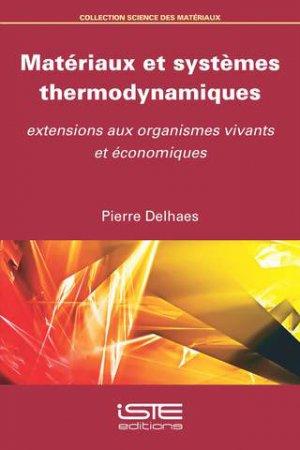 Matériaux et systèmes thermodynamiques-iste-9781784053437