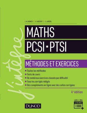 Maths PCSI-PTSI - Méthodes et exercices-dunod-9782100776610
