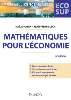 Mathématiques pour l'économie - dunod - 9782100789122