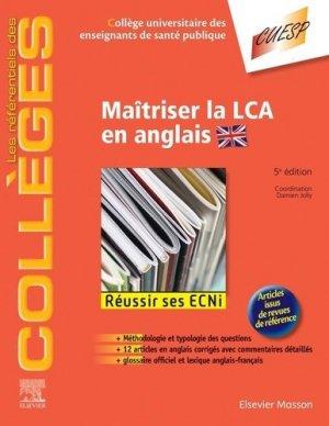 Maîtriser la LCA en anglais-elsevier / masson-9782294763854