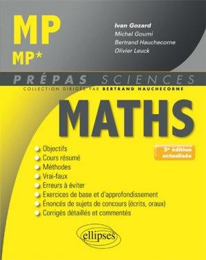Mathématiques MP/MP*-ellipses-9782340019256