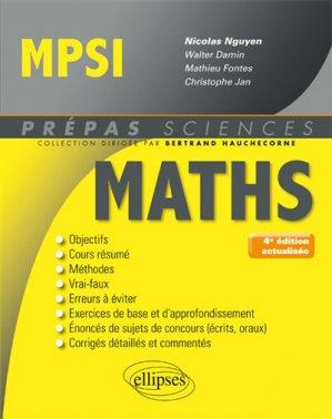 Mathématiques MPSI-ellipses-9782340019263